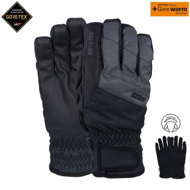 Pow WARNER GTX SHORTGLOVE Charcoal XL